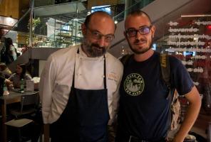 Roberto Liberati con Edoardo Iervolino, pr e ufficio stampa food